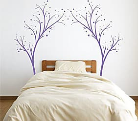 The Decal Guru Large Star Tree Vinyl Decal - Decor Wall Sticker for Baby Nursery or Kids Room Home Design Transfer (Lavender, 80x99 inches)
