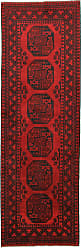 Nain Trading Afghan Akhche Rug 83x28 Runner Dark Brown/Rust (Afghanistan, Hand-Knotted, Wool)