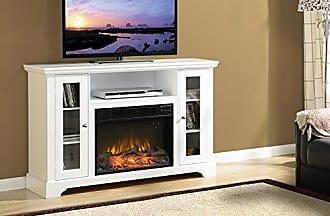 Homestar Z1QUEENSTO Queenston Wide Media Fireplace, 51 1/8 x 15 3/8 x 33 1/4, White