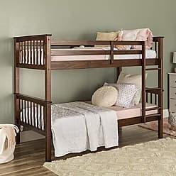 Walker Edison WE Furniture AZWTOTMSWT Twin Bunk Bed, Walnut