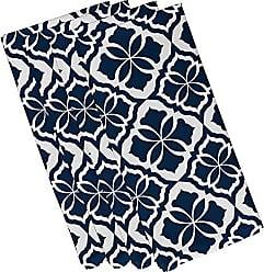 E by Design E by design N4G798BL44 Ceylon, Geometric Print Napkin 19 x 19 Blue