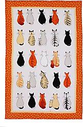 Ulster Weavers Cats in Waiting Linen Tea Towel