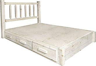 Montana Woodworks MWHCSBPT Homestead Collection Twin Platform Bed with Storage, Ready to Finish