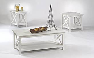 Progressive Furniture P306-95 Seascape1 Tables, 3 Pack, Textured White