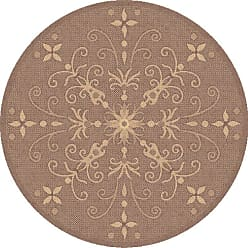 Dynamic Rugs Piazza Vente Round Indoor/Outdoor Area Rug - Brown - PZR525833009