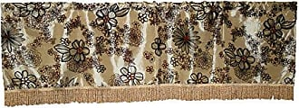 Violet Linen Silky Bloom Window Valance, 60 x 15, Gold
