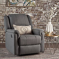 GDF Studio Christopher Knight Home 302057 Jemma Swivel Gliding Recliner Chair, Charcoal