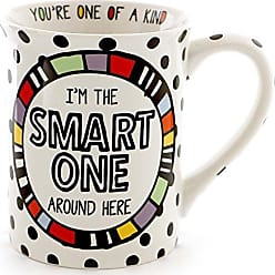 Enesco 6000520 Our Our Name Is Mud Smart One Stoneware Cuppa Doodle Coffee Mug, 16 oz, Multicolor