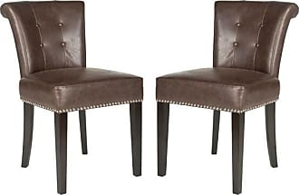 Safavieh Sinclair Ring Chair Set Of 2 Antique Brown