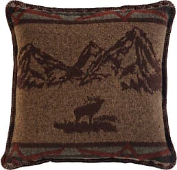 Wooded River Rocky Mountain Elk Square Decorative Throw Pillow - WD1483