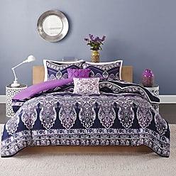 INTELLIGENT DESIGN ID10-470 Comforter Set, Twin/Twin XL, Purple