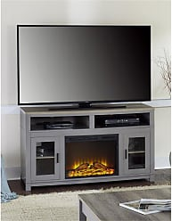Ameriwood Home Home Carver Electric Fireplace TV Stand White - 1774296COM