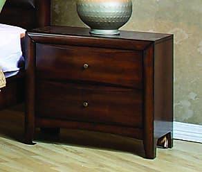 Coaster Fine Furniture 200642 CO-200642 Hillary 2-Drawer Nightstand, Warm Brown