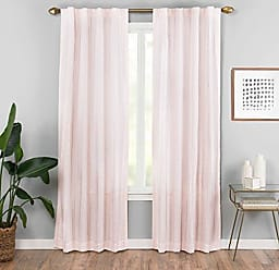 Ellery Homestyles Vue Vaughn Window Curtain Panel, 42 x 84, Blush