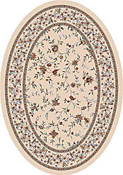 Milliken Carpet Pastiche Collection Hampshire Oval Area Rug, 78 x 109, Sand