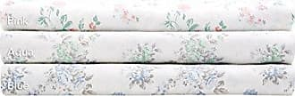 Madison Park Floral Full Bed Sheets, Cottage/Country 100% Cotton Bed Sheet, Blue Bed Sheet Set 6-Piece Include Flat Sheet, Fitted Sheet & 4 Pillowcases