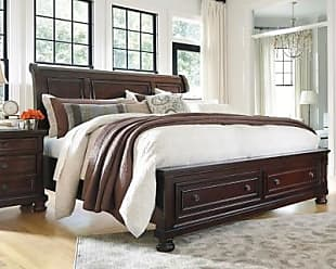 Ashley Furniture Porter King Sleigh Bed, Rustic Brown