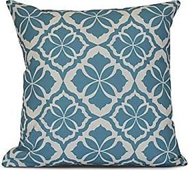 E by Design Ebydesign Ceylon Geometric Print Outdoor Pillow 16 x 16 Red