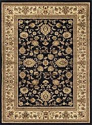 Tayse Gabrielle Traditional Oriental Black Rectangle Area Rug, 9 x 12