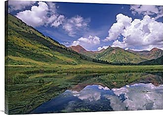 Bentley Global Arts Global Gallery Budget GCS-396627-2432-142 Tim Fitzharris Ruby Range Reflected in Lake Gunnison National Forest Colorado Gallery Wrap Giclee on Canvas Print Wall Art