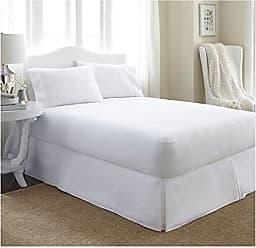 iEnjoy Home Collection Premium Luxury Terry Cotton Waterproof Mattress Protector, Queen, White