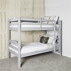 Walker Edison WE Furniture AZWSTOTGY Twin Bunk Bed, Gray