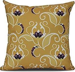 E by Design E by design West Indies Floral Print Pillow 20 x 20 Gold