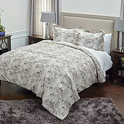 Rizzy Home Vintage Butterfly Comforter Set, King, Beige/Purple