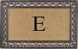 First Impression Classic Paisley Border Monogrammed Double Door Mat