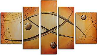 Omax Decor Orbs Jump Rope 5-Piece Canvas Wall Art - 68W x 40H in. - M 2246