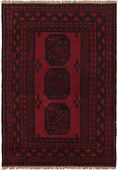 Nain Trading Oriental Rug Afghan Akhche 49x33 Dark Grey/Purple (Wool, Afghanistan, Hand-Knotted)