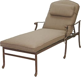 DARLEE Outdoor Darlee Sedona Chaise Lounge with Sesame Cushions and Pillow - 201030-33/303-AB