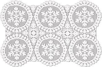 Heritage Lace Yuletide Doily Set, 19 by 20, White