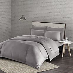 Urban Habitat Comfort Wash Duvet Cover King/Cal King Size - Grey, Solid Duvet Cover Set - 3 Piece - 100% Cotton Light Weight Bed Comforter Covers