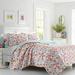 Revman International Poppy & Fritz Tilly Floral Quilt Set, Full, Medium Pink