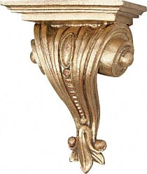 Hickory Manor House Beaded Bracket Decor with Gold Leaf
