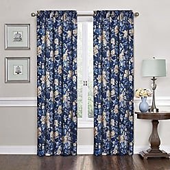 Ellery Homestyles Traditions By Waverly 14468052084IND Forever Yours Single Window Curtain Panel, 52 x 84, Indigo