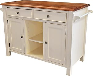 222 Fifth Atlantic 2 Drawer Kitchen Island White - 7115WH755A1R54