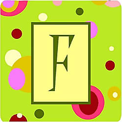 Multicolor 3.5 H x 3.5 W Carolines Treasures CJ1010-KFC Monogram-Green Foam Coasters Initial Letter K Set of 4