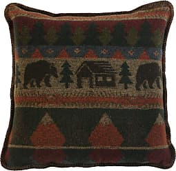 Wooded River Cabin Bear WD421 Decorative Pillow - WD421