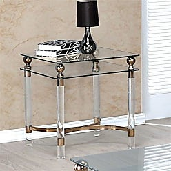 FURNITURE OF AMERICA 24/7 Shop at Home 247SHOPATHOME IDF-4352E end-Tables, Gold
