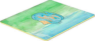 20 x 30 Carolines Treasures BB2611CMT Christmas Presents Between Friends Chow Blue Kitchen or Bath Mat Multicolor