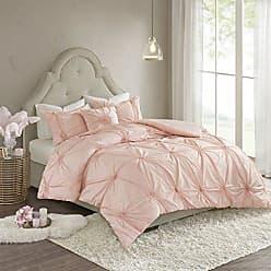 Madison Park Leila Cotton Blend Geometric Duvet Cover Cal King Size, King King, Blush 4 Piece Bedding Set