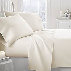iEnjoy Home Simply Soft 3 Piece Flannel Sheet Set, Twin, Ivory