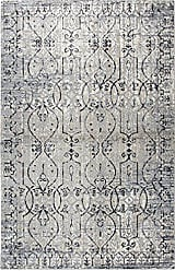 Rizzy Home Panache Collection Polypropylene Taupe/Natural/Gray/Black Scroll Work Distress Area Rug 23 x 77