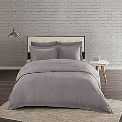 Urban Habitat Comfort Wash Duvet Cover Twin/Twin XL Size - Grey, Solid Duvet Cover Set - 2 Piece - 100% Cotton Light Weight Bed Comforter Covers
