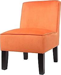 Benzara Truly Classy Accent Chair Orange
