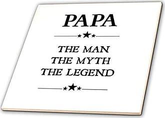 3D Rose 3dRose Papa The Man The Myth The Legend-Ceramic Tile, 8 (ct_221820_3)