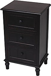 Decor Therapy Décor Therapy Three Drawer Accent Table, Black