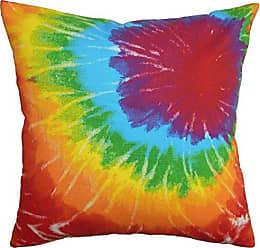 The Pillow Collection Betrys Tie Dye Bedding Sham Green Orange, Standard/20 x 26